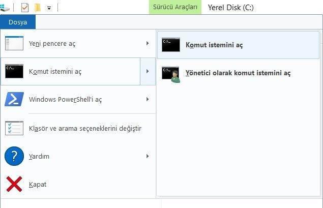 Windows 10'da Komut İstemi Nasıl Çalıştırılır?