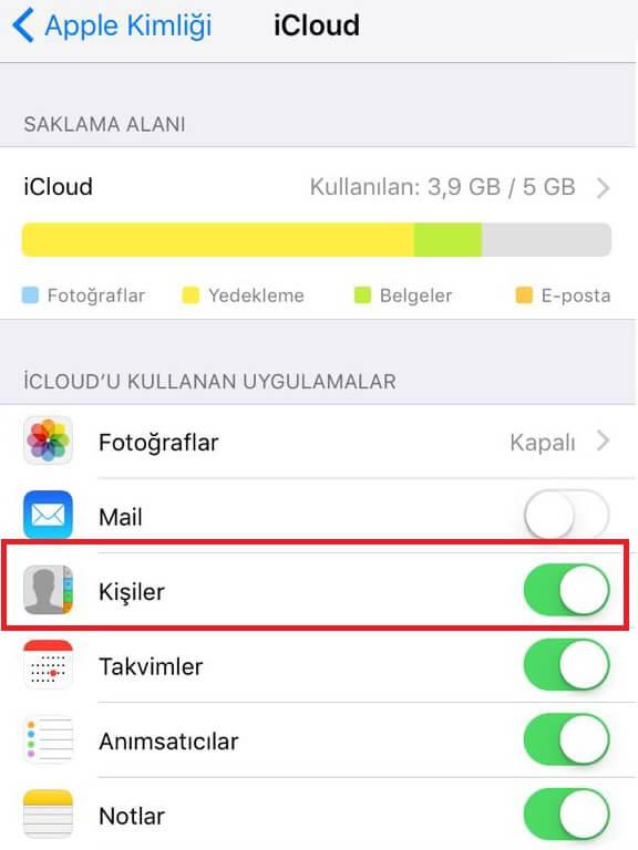 iPhone Rehber Yedekleme Nasıl Yapılır ?