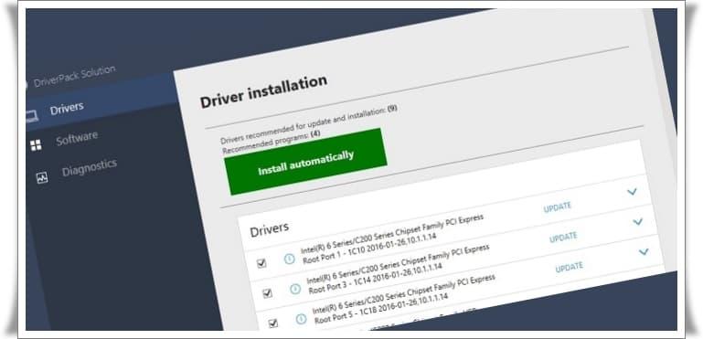 Otomatik Driver İndirme ve Yükleme Programı - Driver Pack Solution