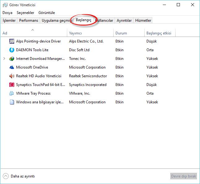 Windows'ta başlangıçta açılan programlar nasıl kapatılır?