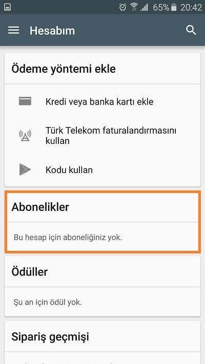 google-play-abonelik-iptali