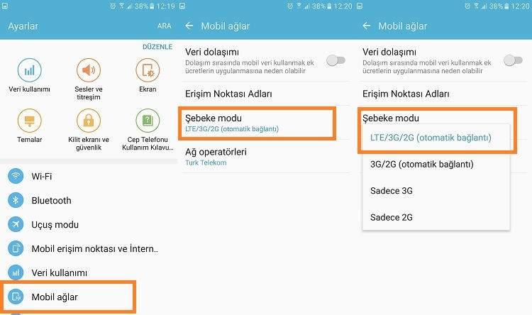 Android Telefonlarda 4.5G Ayarlama (Turkcell, Vodafone, Türk Telekom)2