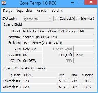 Laptop Sıcaklık Ölçme Programı