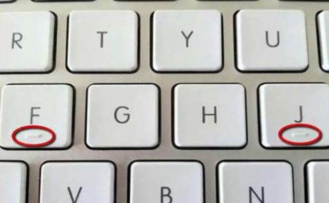Klavyedeki F ve J Tuşlarında Neden Kabartmalı Çizgi Vardır? 1