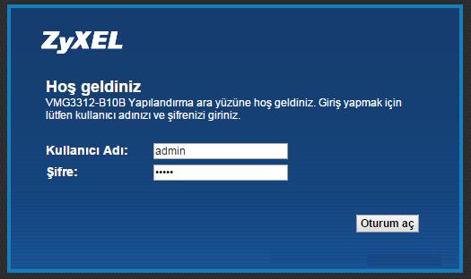 TTNET ZyXEL Wifi Şifresi Değiştirme-1