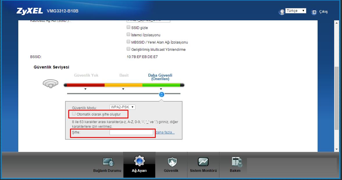 TTNET ZyXEL Wifi Şifresi Değiştirme-3