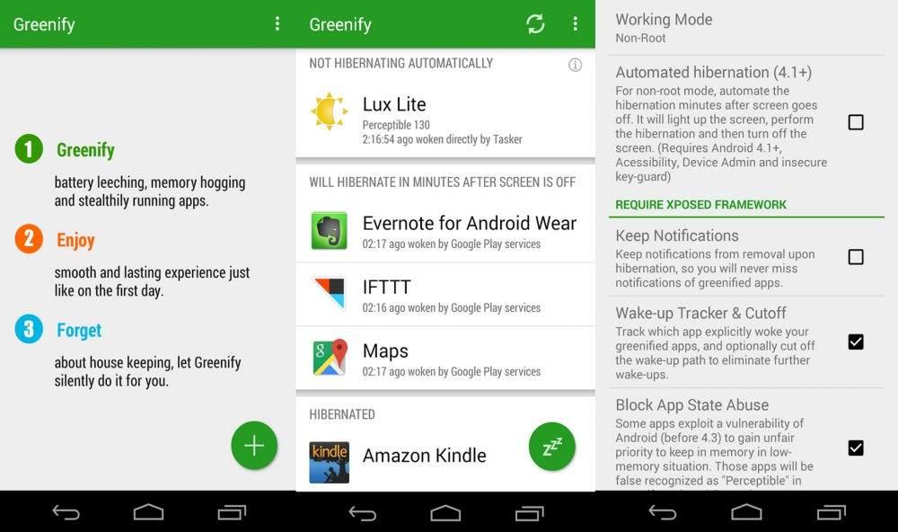 Android Telefonu Hızlandırmak için En İyi Uygulamalar-Greenify