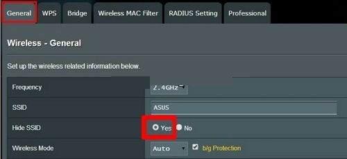 Asus Kablosuz Ağ Adı (SSID) nasıl gizlenir