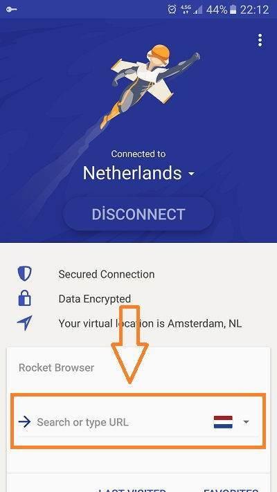 Rocket VPN ile Yasaklı Sitelere Hızlı Girin-2