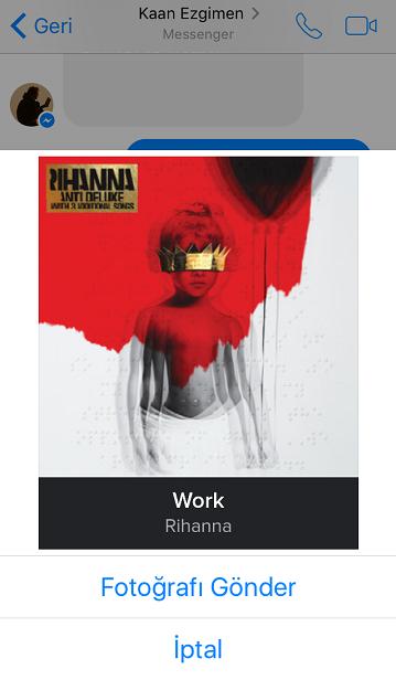 Spotify şarkılarını Messenger kişilerinizle paylaşın
