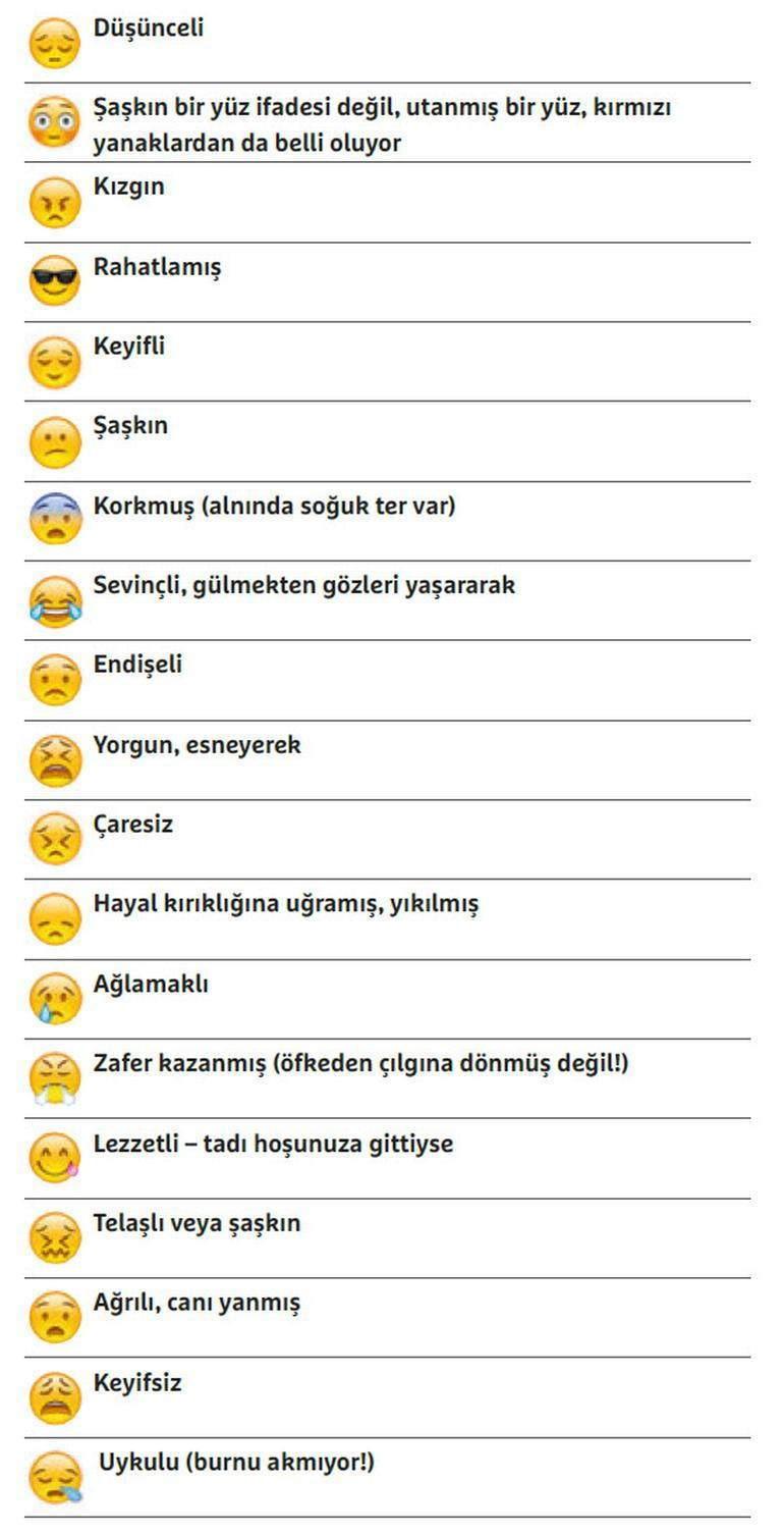 Emojilerin Anlamları