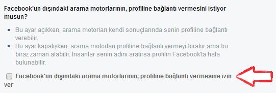 Facebook Profiliniz Arama Motorlarında Görünmesin-4