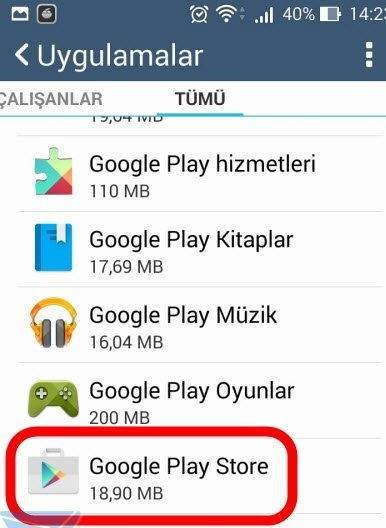 Google Play Durduruldu Hatası Çözümü 3