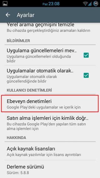 Google PlayStore'da İçerik Filtrelemesi Nasıl Yapılır2