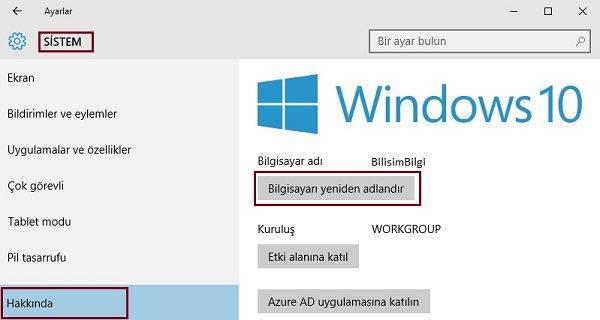Windows 10' da Bilgisayar Adı Nasıl Değiştirilir2