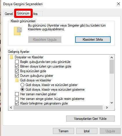 Windows'ta Dosya Uzantıları Nasıl Gösterilir-2
