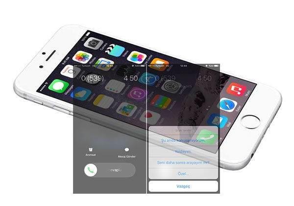 iPhone' da Cevaplayamadığınız Çağrıya Özel Mesaj Oluşturma 1
