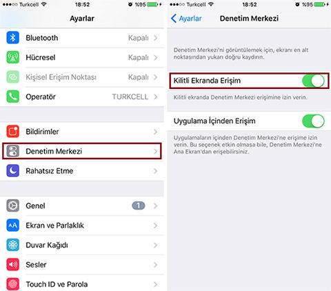 iPhone' da Kontrol Merkezi Nasıl Devre Dışı Bırakılır1