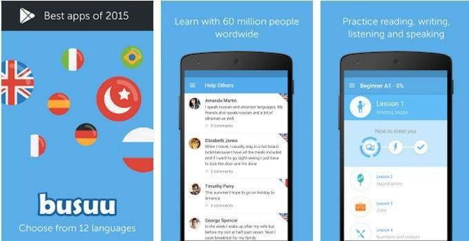 Android için Dil Uygulamaları-Busuuu