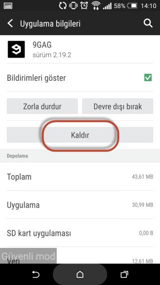 Android'de Silinmeyen Uygulamalar Nasıl Kaldırılır6