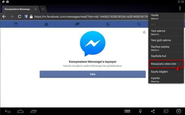 Facebook Messenger'ı Yüklemeden Kullanma2