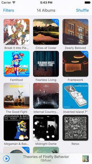 iPhone için En iyi 5 Müzik Uygulaması-1-Ecoute