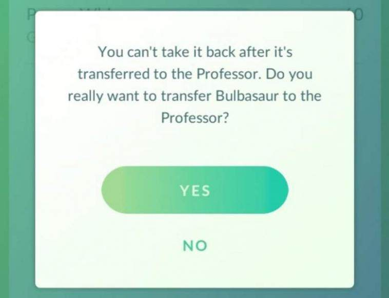 Pokemon GO'da Transfer Nedir1