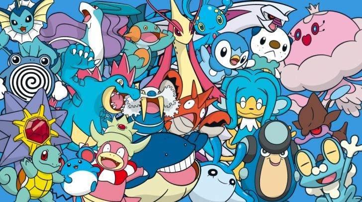Su tipi Pokemonlar