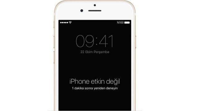 iPhone Etkin Değil Uyarısı ve Çözümü 1