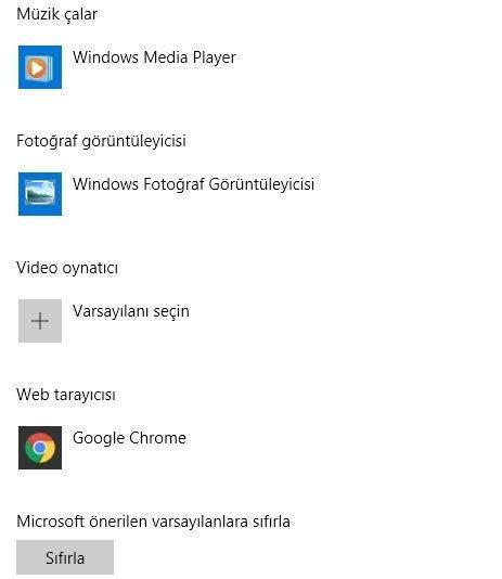 Windows 10 Varsayılan İnternet Tarayıcıyı Değiştirme