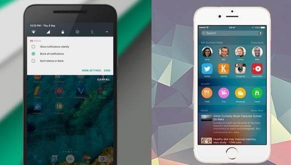 Android 7.0 Nougat ve iOS 10 Karşılaştırması 1