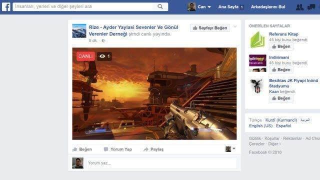 Facebook'ta Canlı Oyun Yayını Nasıl Yapılır ? 1