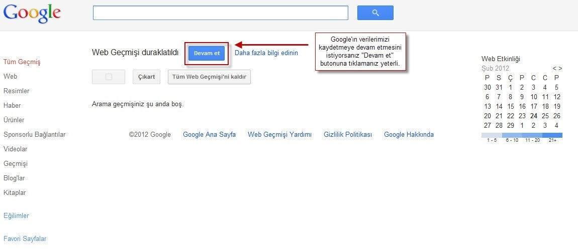 Google Web Geçmişi Nasıl Silinir-2