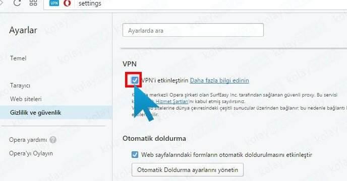 Opera Ücretsiz ve Sınırsız VPN Nasıl Kullanılır?