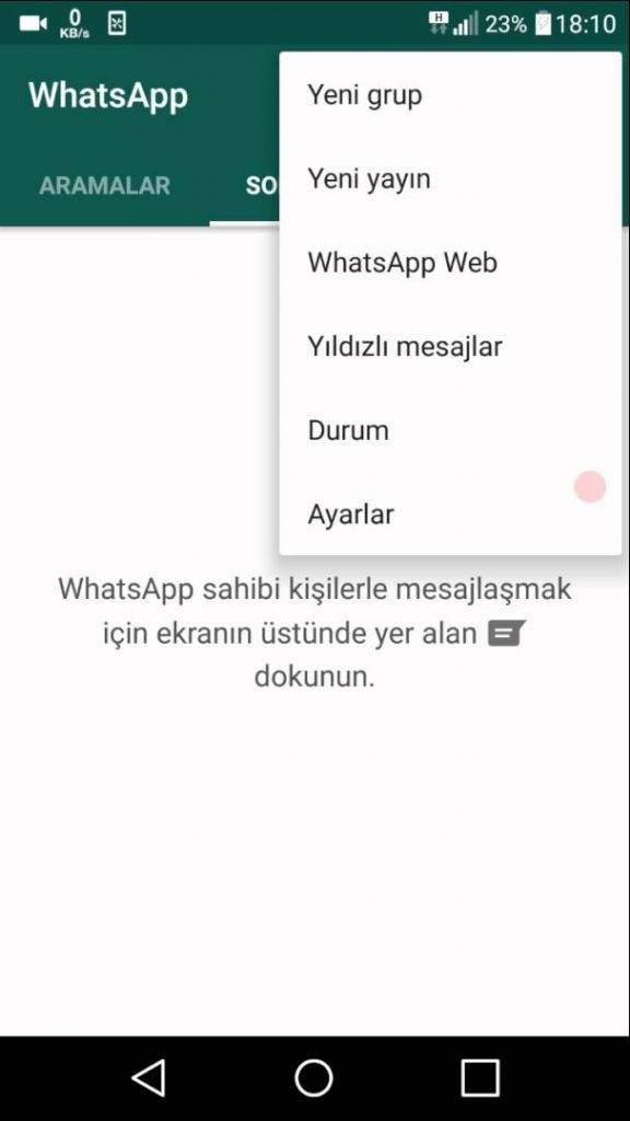 Whatsapp'ta Durum Güncellemesi Nasıl Yapılır?