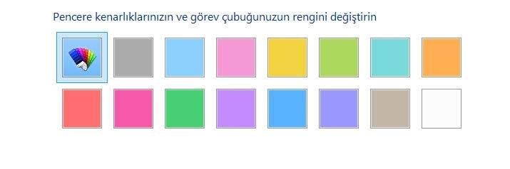 Windows 10 Görev Çubuğu Rengi Değiştirme