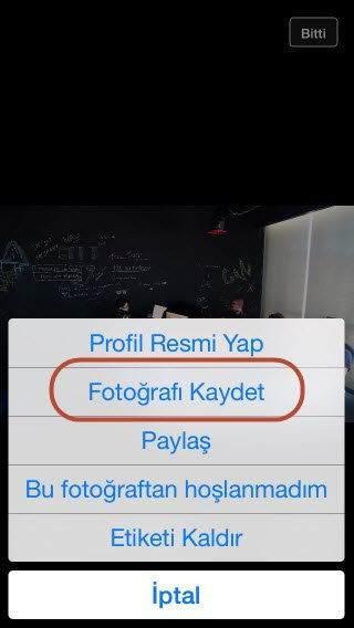 iOS'da Facebook Fotoğraflarını İndirme