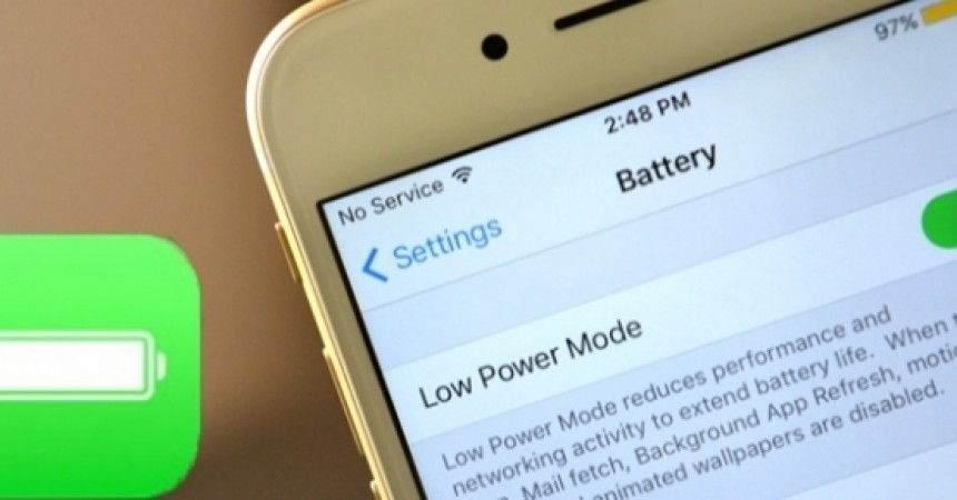 iPhone Düşük Güç Modu'nu Hızlı Açma
