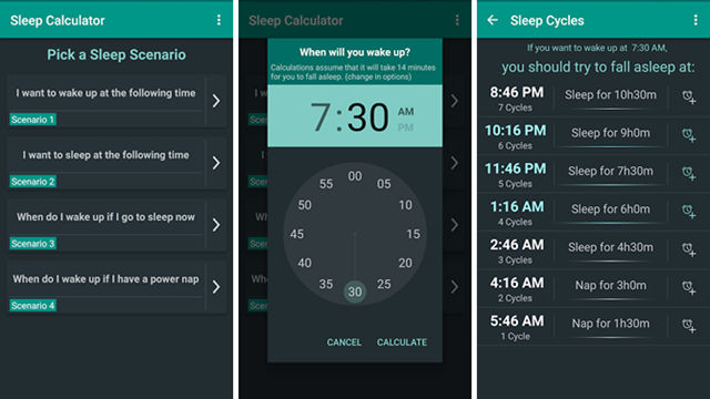 sleep calculator