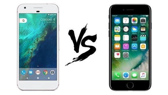 Google Pixel ve iPhone 7 Hız Testi