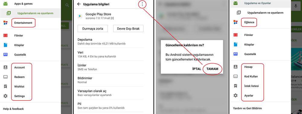 Google Play Market İngilizce Sorunu ve Çözümü