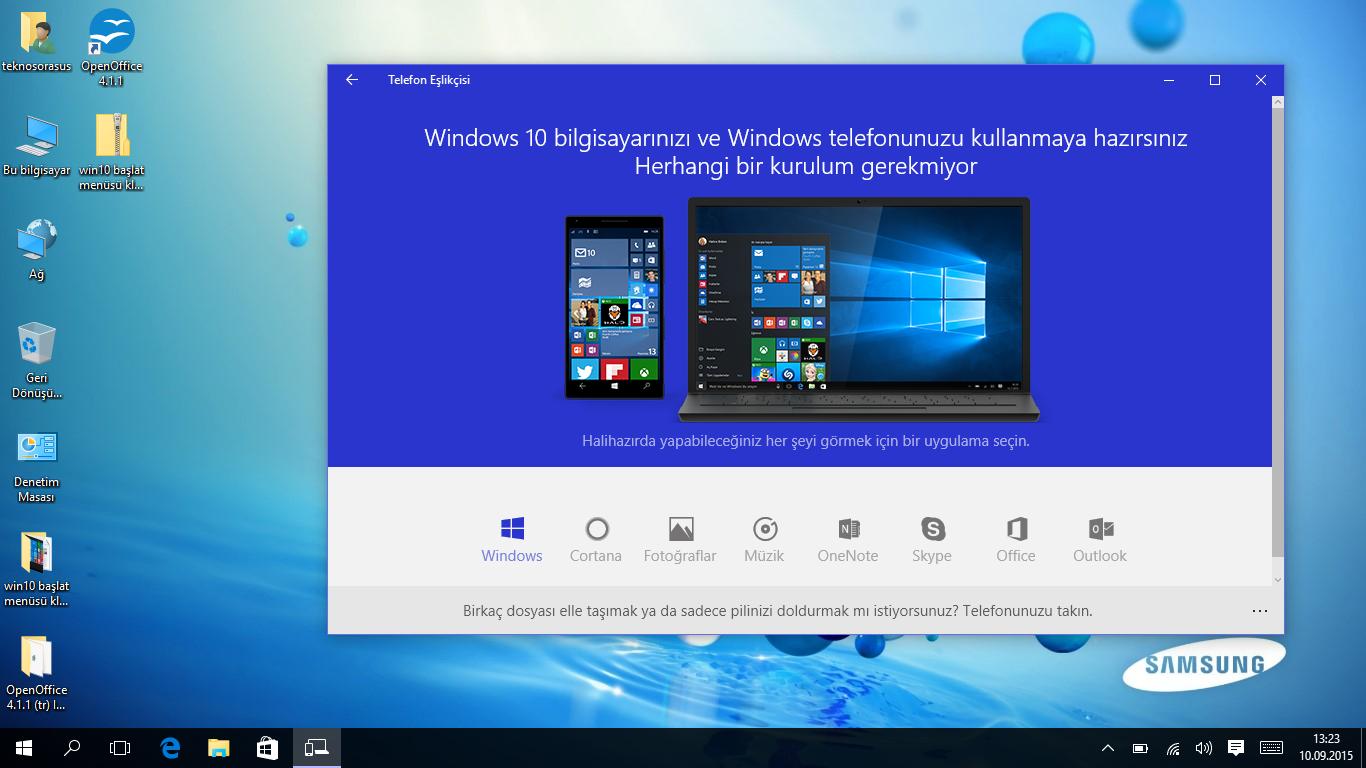 Windows 10 Telefon Eşlikçisi Nasıl Kullanılır ?