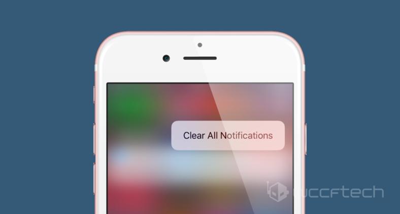 iPhone'da 3D Touch ile Tüm Bildirimler Nasıl Silinir ?