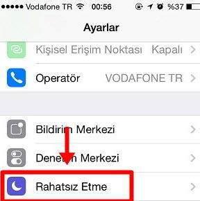iPhone Rahatsız Etme Özelliği Nasıl Kullanılır