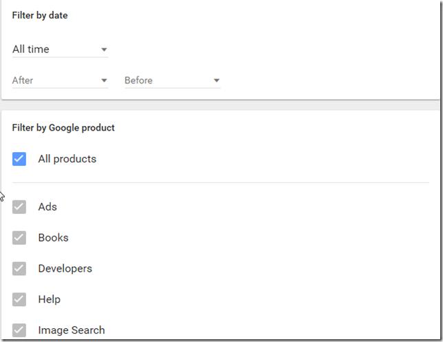 Google arama geçmişi nasıl temizlenir