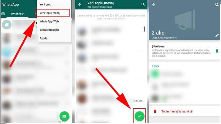 WhatsApp Toplu Mesaj Nasıl Gönderilir ?