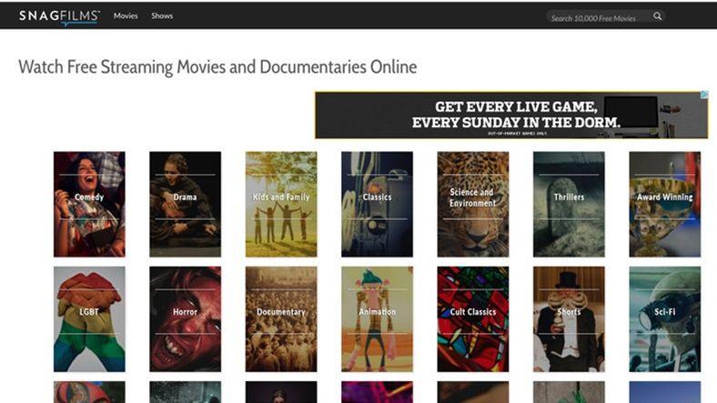 Yasal Olarak Film İzleyip İndirebileceğiniz 10 Site - SnagFilms