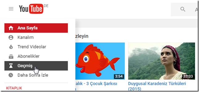 Youtube arama geçmişi nasıl temizlenir