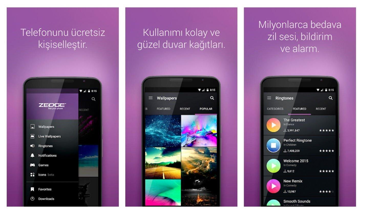 Android için En İyi 10 Duvar Kağıdı Uygulaması