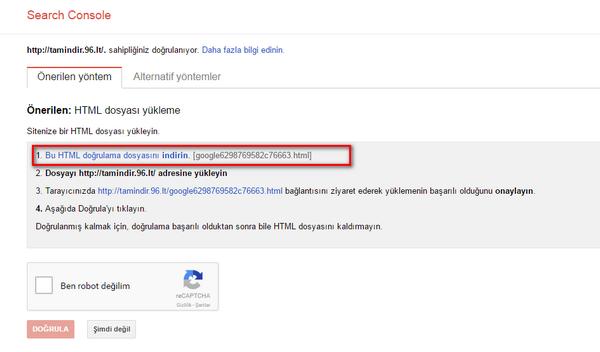 Google WM Tools Kullanımı